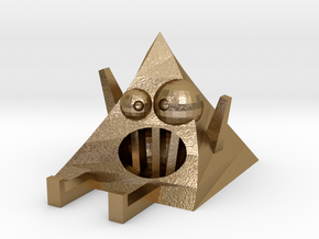 Crazy Pyramid | Monster Toy in Polished Gold Steel