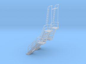 NYC - CR & PF Towers - Stair (2X) in Smooth Fine Detail Plastic