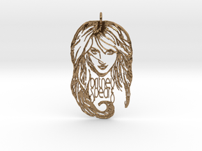 Britney Spears Pendant - Exclusive 3D Britney Spea in Natural Brass