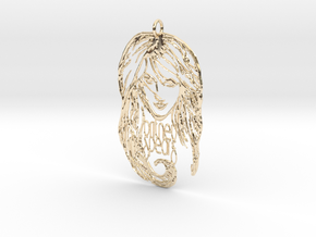 Britney Spears Pendant - Exclusive 3D Britney Spea in 14k Gold Plated Brass