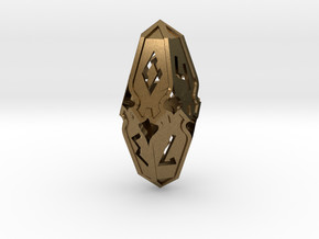 Amonkhet D10 gaming die - Small, hollow in Natural Bronze