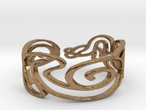 Bracelet Design Women in Natural Brass