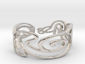 Bracelet Design Women in Rhodium Plated Brass