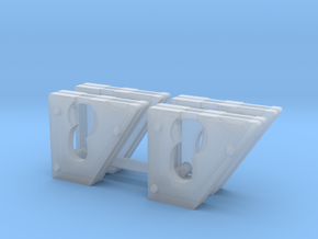 Cheek weights for 1:50 DM 242D/259D skid steers in Smooth Fine Detail Plastic