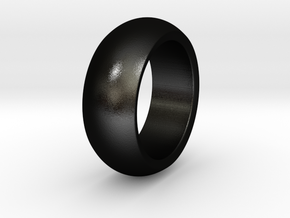 Ralph - Slick Ring Massiv in Matte Black Steel: 6 / 51.5