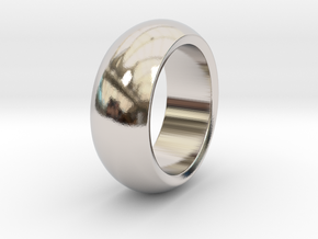 Ralph - Slick Ring Massiv in Rhodium Plated Brass: 6 / 51.5