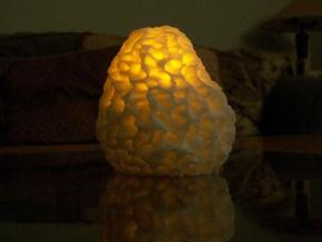 Morel Mushroom Medium in White Natural Versatile Plastic