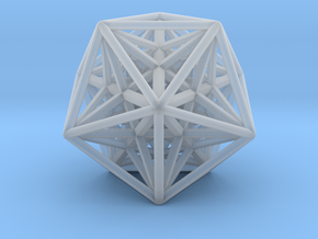 Super Icosahedron in Smooth Fine Detail Plastic