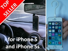 iPhone 5/5s car holder in White Natural Versatile Plastic