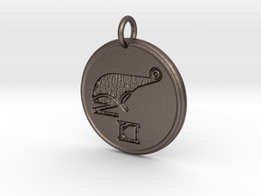 Riven Pendant Set - Frog (3 of 5) in Polished Bronzed Silver Steel
