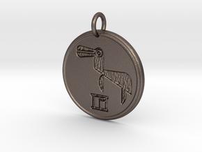 Riven Pendant Set - Amphibian (4 of 5) in Polished Bronzed Silver Steel