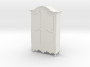 1:48 French Amoire in White Natural Versatile Plastic