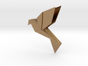 Origami Bird in Natural Brass