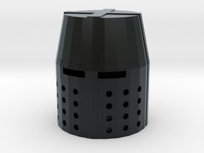 Crusader Great Helm in Black Hi-Def Acrylate