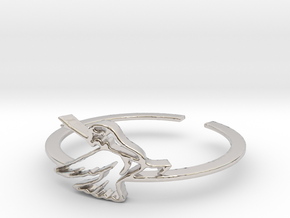 Bird Ring Design Ring Size 7 in Platinum
