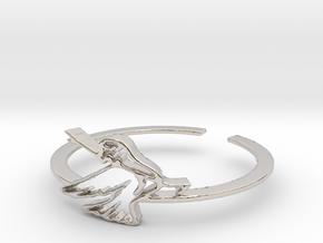Bird Ring Design Ring Size 7 in Rhodium Plated Brass