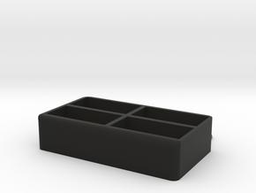 Porta Telecomandi  in Black Natural Versatile Plastic