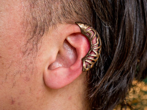 Springtime Ear Jacket - Left in Polished Bronze Steel: Medium