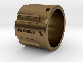 357 Magnum Cylinder Ring, 6 shot, Ring Size 9 in Natural Bronze