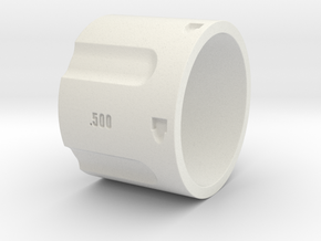 500 5-Shot Revolver Cylinder, Ring Size 12 in White Strong & Flexible