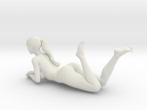 Long Ponytail Girl-062 in White Strong & Flexible