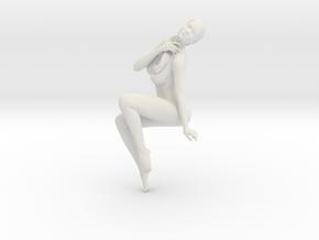 Long Ponytail Girl-077 in White Natural Versatile Plastic