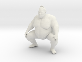Japanese Sumo 001 in White Natural Versatile Plastic: 1:10