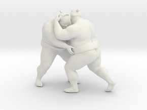 Japanese Sumo 017 in White Strong & Flexible: 1:10