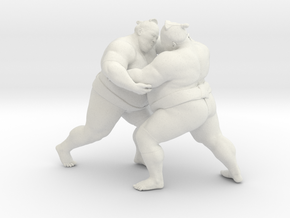 Japanese Sumo 019 in White Strong & Flexible: 1:10