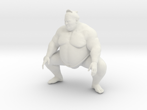 Japanese Sumo 015 in White Strong & Flexible: 1:10