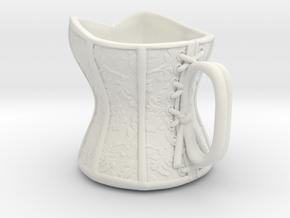 Victorian Damask Corset Cup, c. 1860-68 in White Natural Versatile Plastic