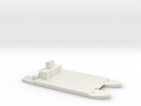 1/285 Siebelfahre 43 Holzgas-Generator in White Natural Versatile Plastic