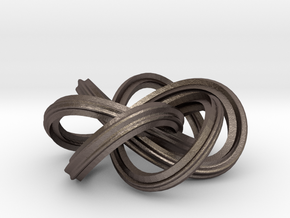 Trefoil Knot in Polished Bronzed Silver Steel