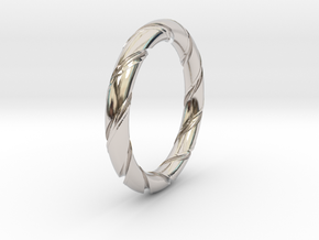 Bernd - Ring in Rhodium Plated Brass: 6 / 51.5