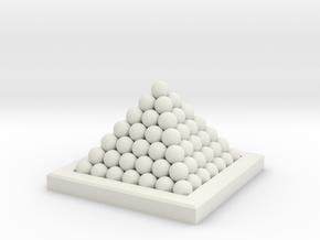 18th Century 6# Cannon Balls-Monkey 24 in White Natural Versatile Plastic