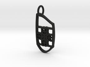 Cross bear in Black Natural Versatile Plastic