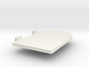 Left Hand Door Scaled in White Natural Versatile Plastic