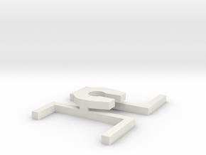 A 023 Kupplung Amarok in White Natural Versatile Plastic