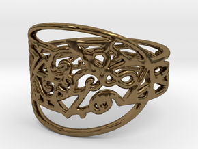 Freaky Ring Design Ring Size 7 in Polished Bronze