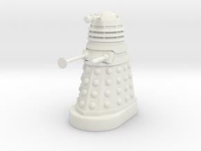 Dalek Mk II - Neutral Pose in White Natural Versatile Plastic