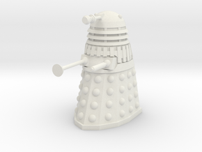 Dalek Mk III - Neutral Pose in White Natural Versatile Plastic