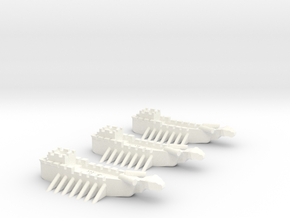 Fantasy Fleet Sloops in White Processed Versatile Plastic