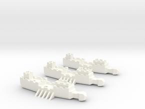Fantasy Fleet Frigates in White Processed Versatile Plastic