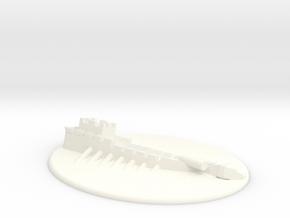 Sunk Galley in White Processed Versatile Plastic