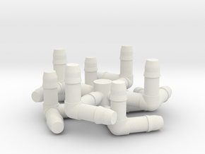 Cube Milk Straw Connectors in White Strong & Flexible