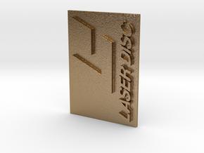 Laser Disc Logo in Polished Gold Steel