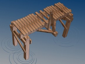 3 In Picturesque Wood Bridge in White Natural Versatile Plastic