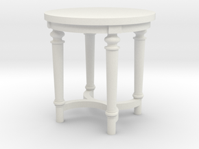 1:48 French Country Side End Table in White Natural Versatile Plastic