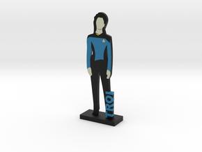 Counselor Deanna Troi = DESKAPADES = in Full Color Sandstone: Small