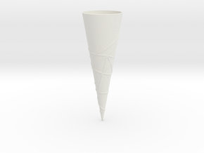 Geodesics between points on a 60 degree cone. in White Natural Versatile Plastic